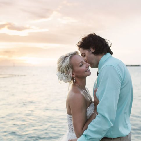 kiss by the ocean at key west wedding