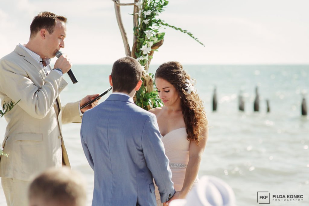 oceanfront ceremony at southernmost house in key west