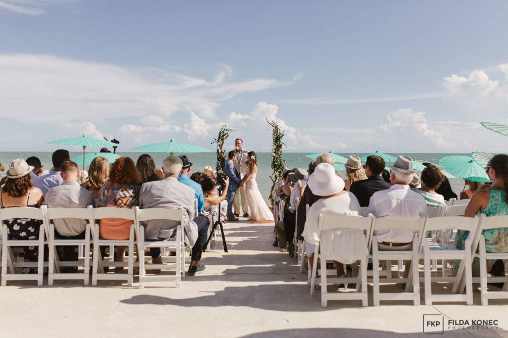 wedding ceremony on the beach key west