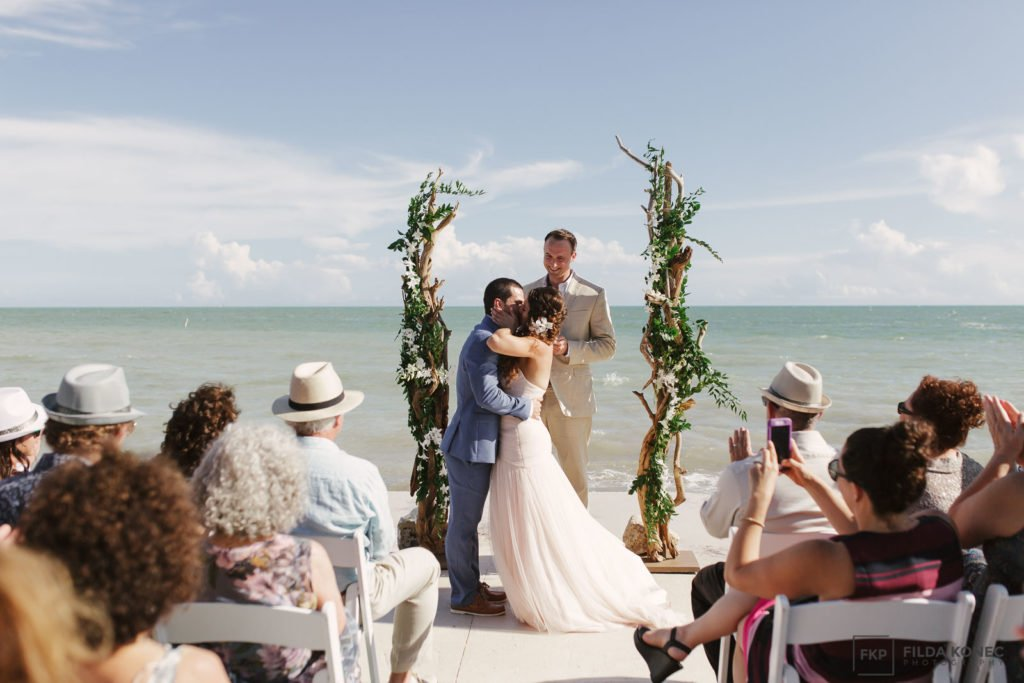 first kiss southernmost house wedding