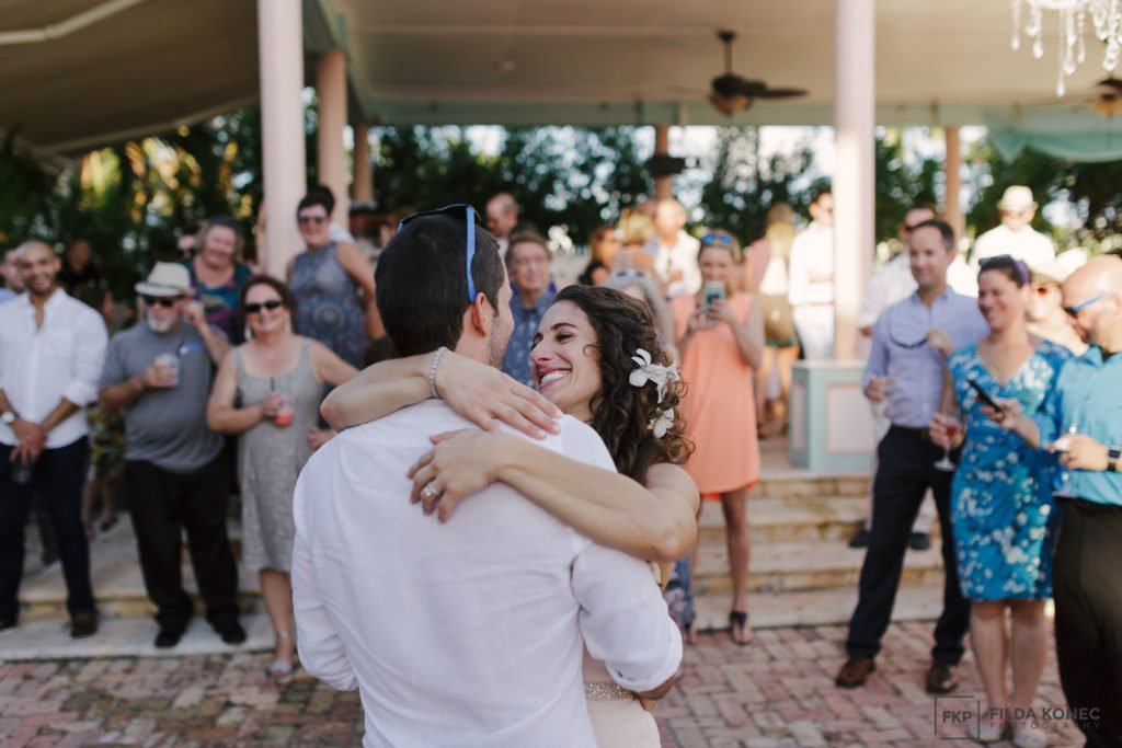 first dance at southernmost house wedding reception