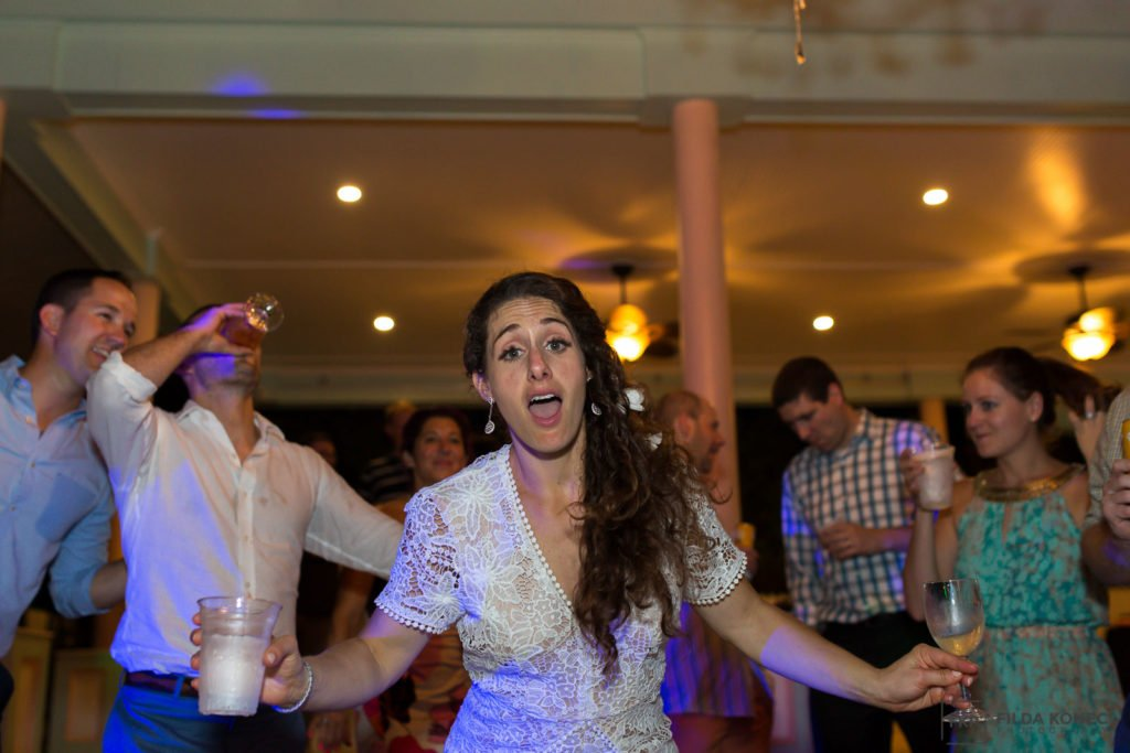 bride dancing at her wedding party