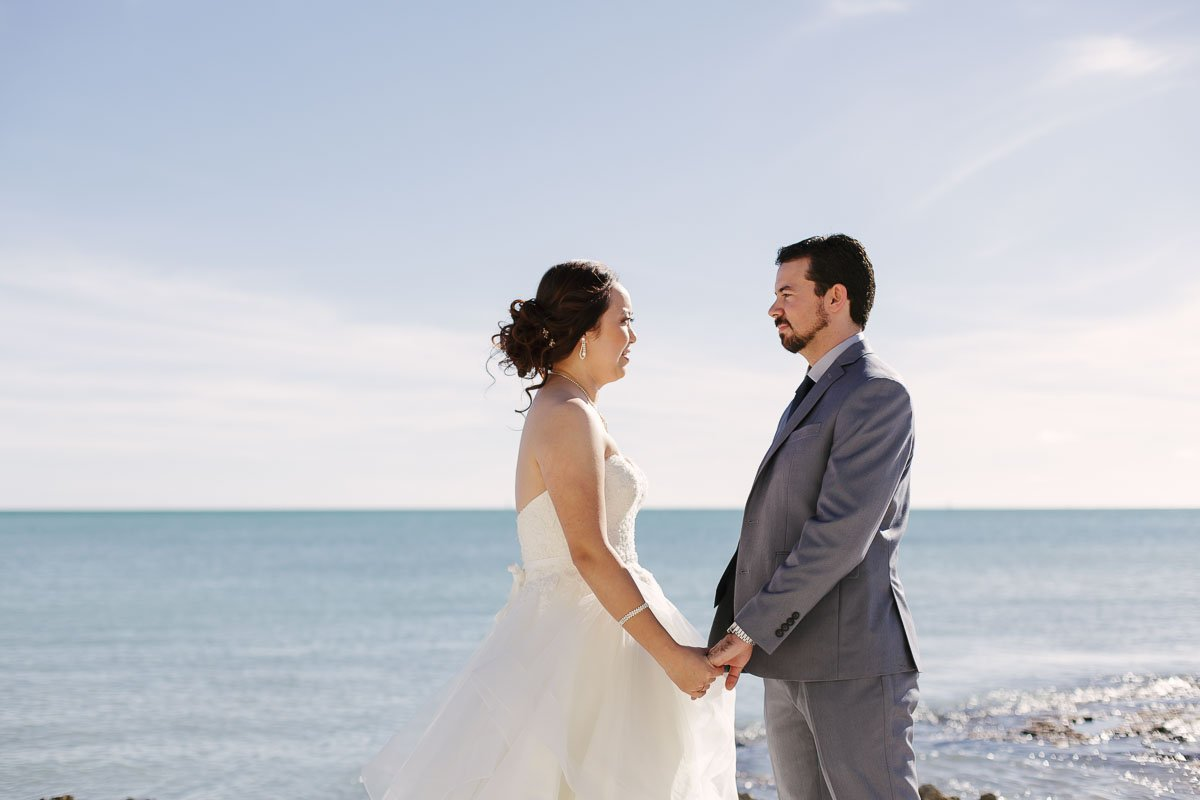 beach wedding ceremony at casa marina key west florida