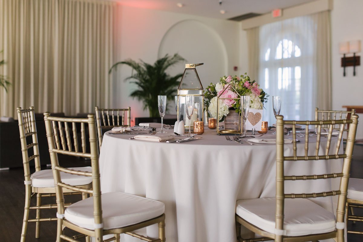 casa marina wedding table setup