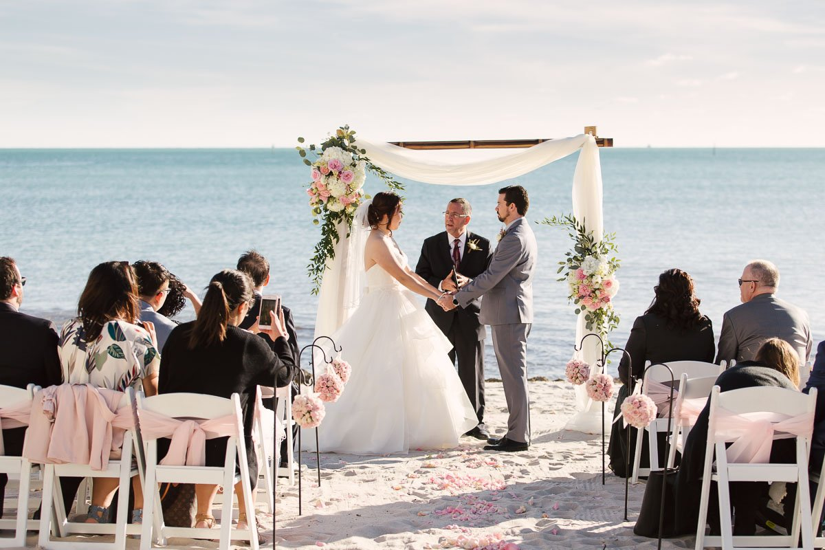 beach ceremony at casa marina key west florida