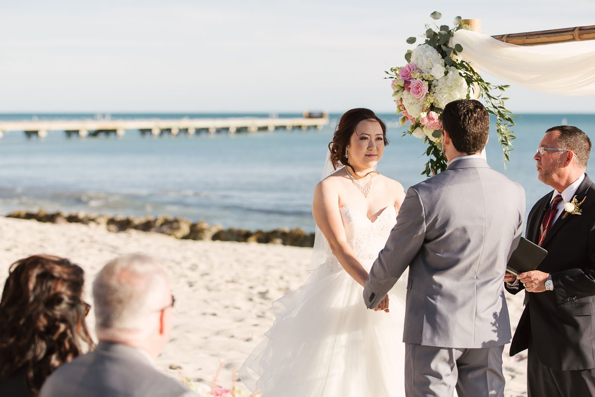 beach ceremony near atlantic ocean in key west florida