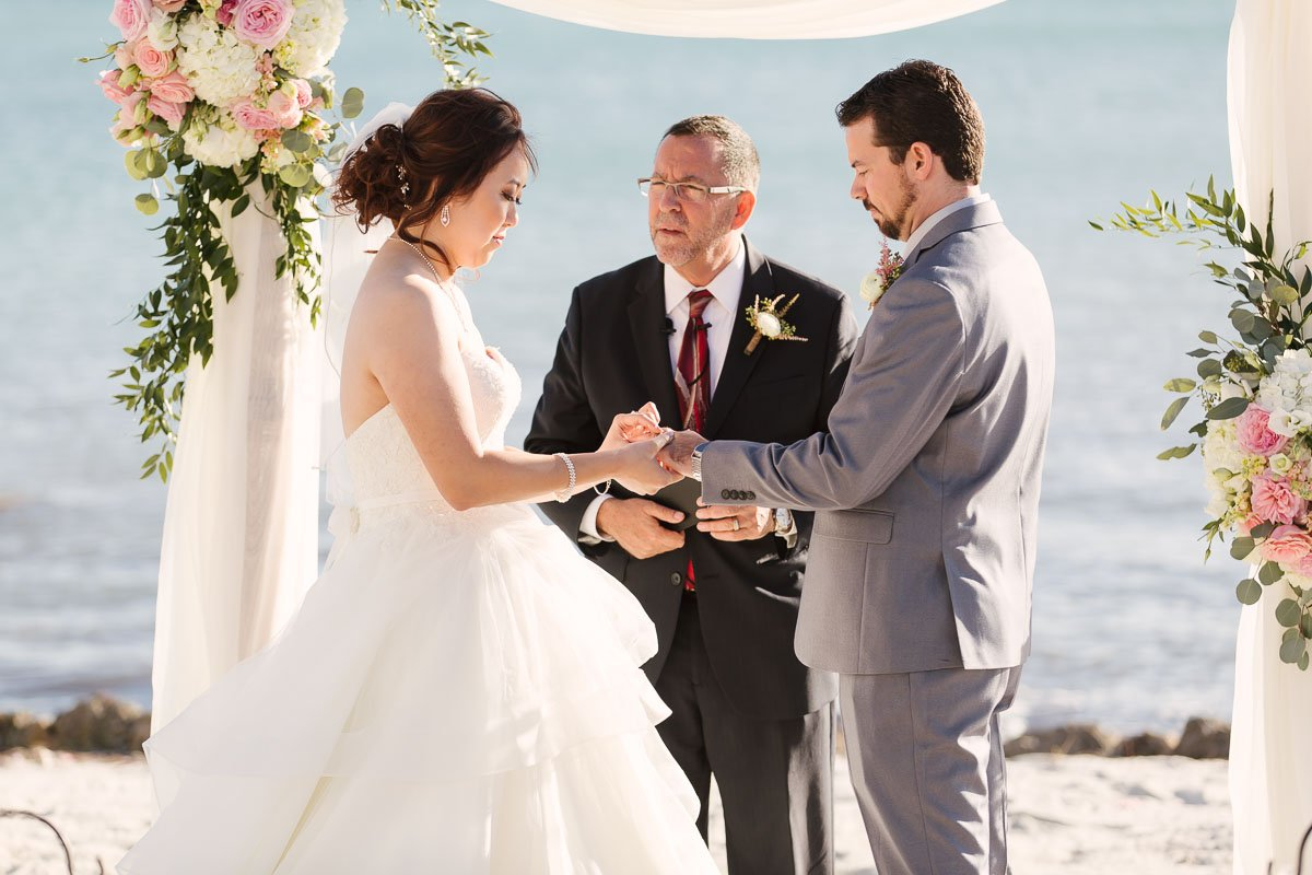 ring exchange at florida keys wedding ceremony
