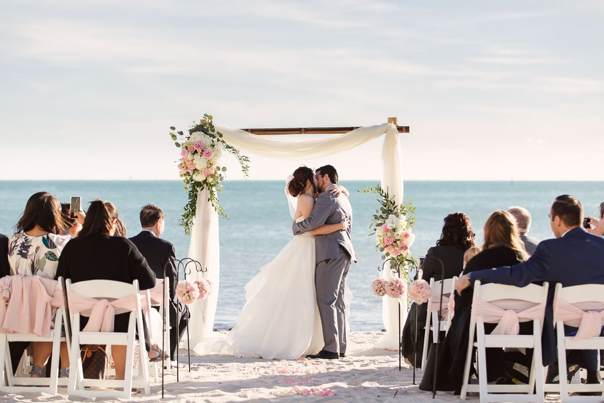 first kiss florida keys wedding