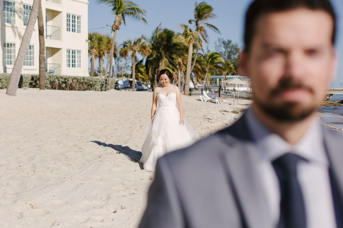 first look at casa marina key west florida wedding