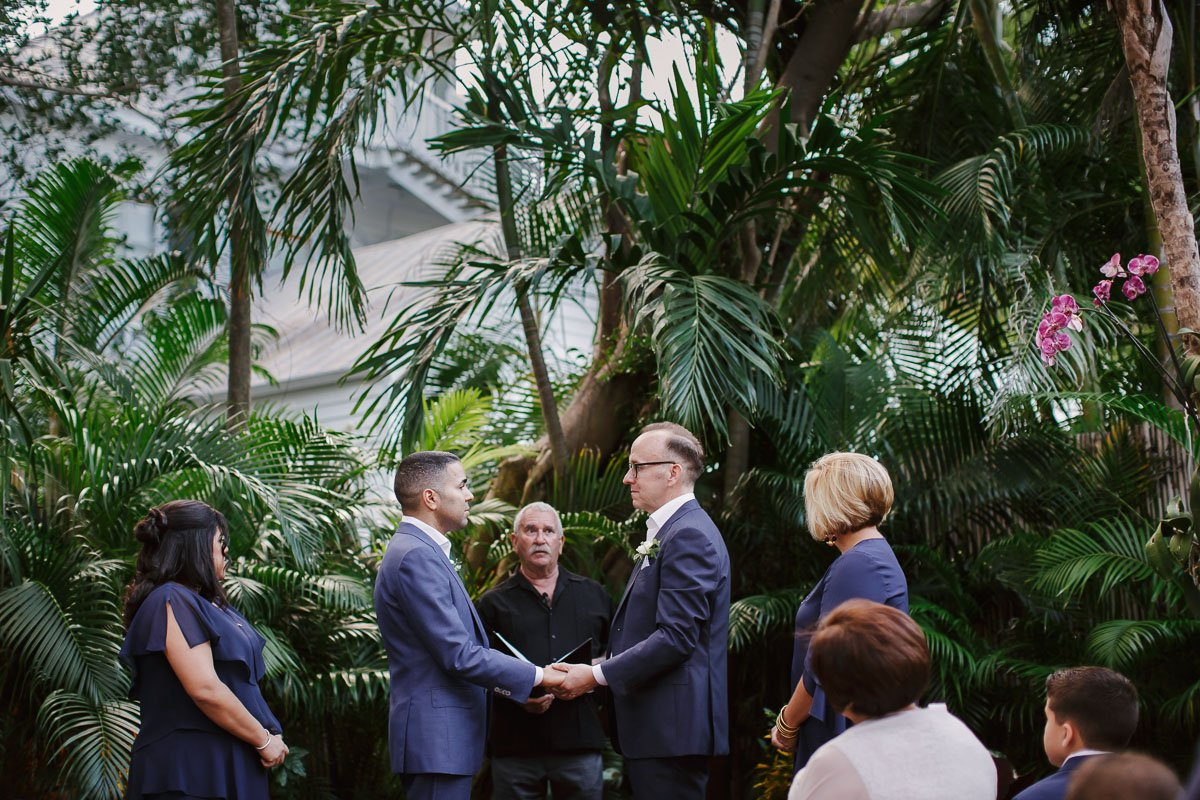 wedding ceremony for two grooms in key west florida wedding photographer