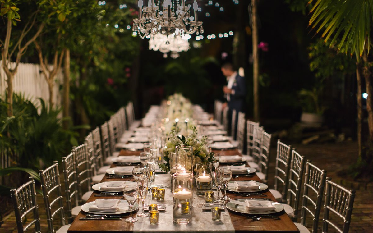 table setup by milan events in key west florida