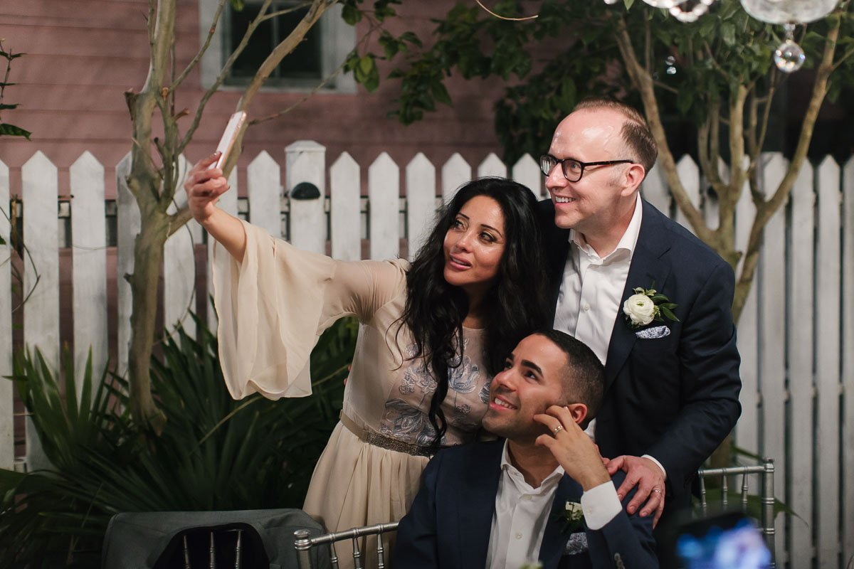 selfie time at key west wedding