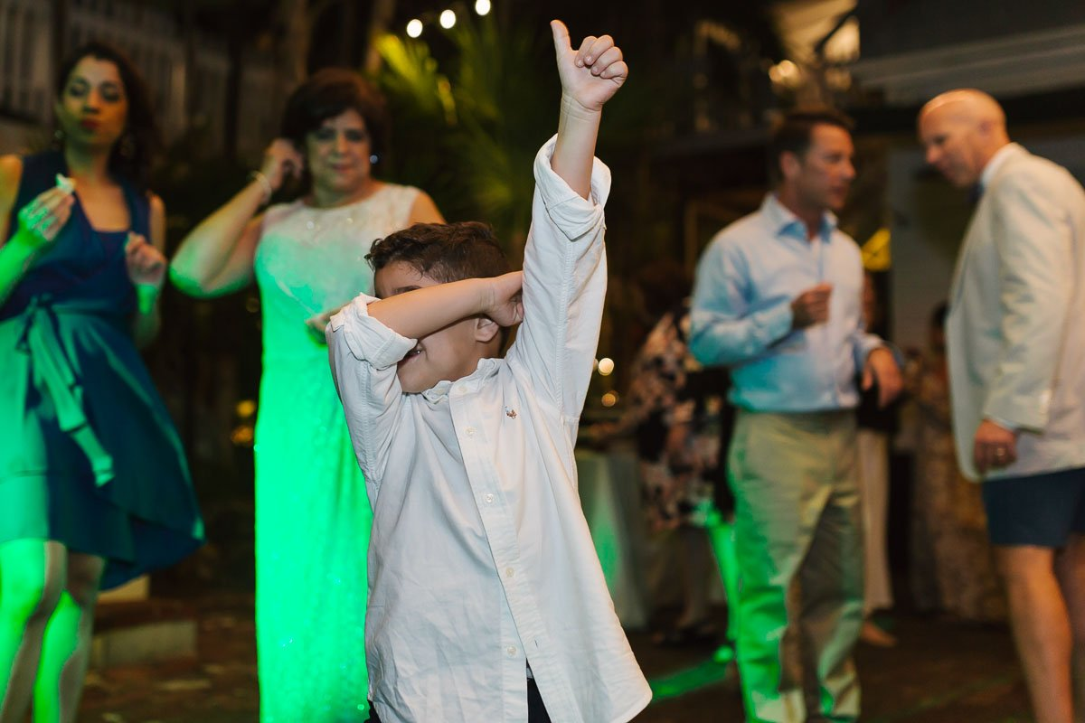 little boy dancing at key west wedding