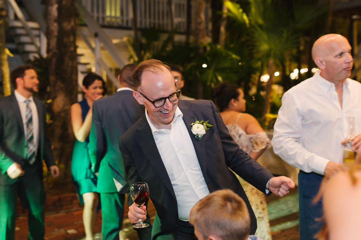 dancing and partying at wedding in key west florida