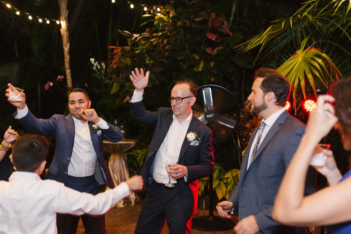 wedding party at old town manor key west