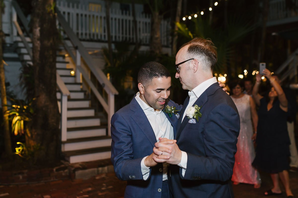 two grooms dancing at old town manor wedding