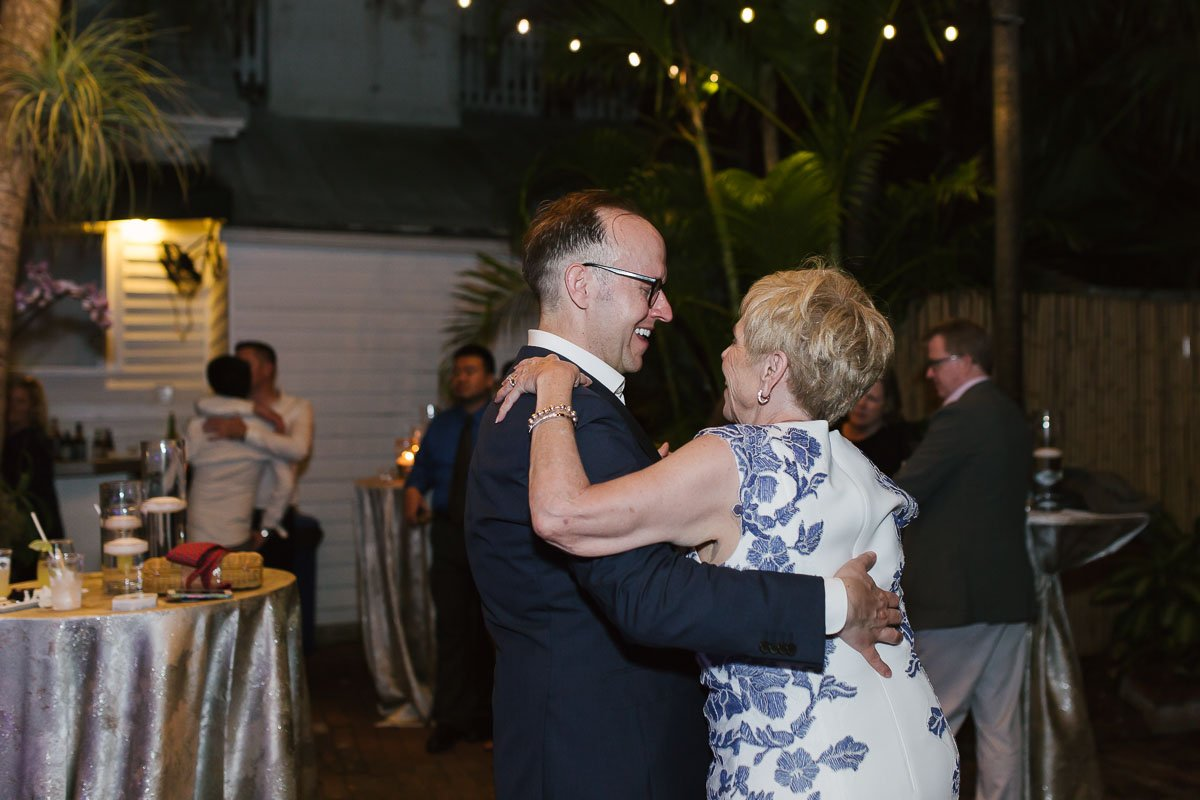 old town manor key west florida wedding reception