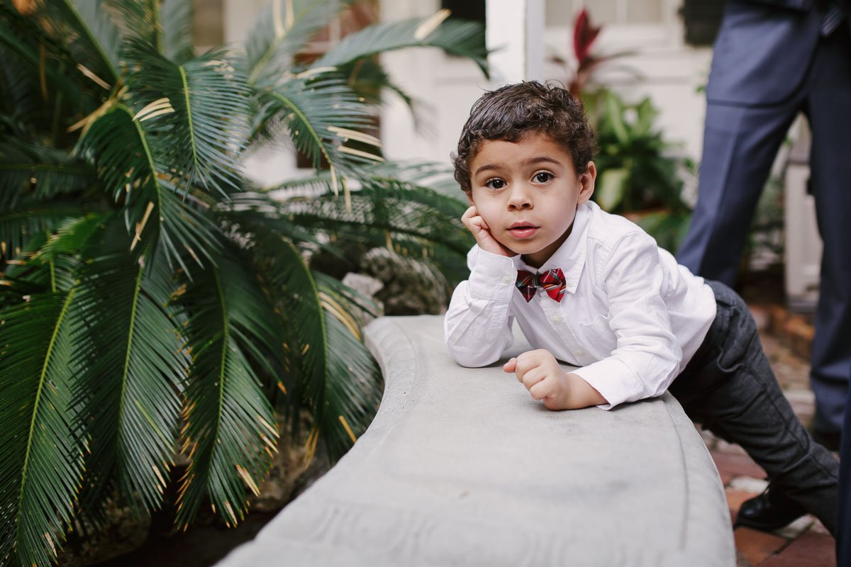 little boy before the ceremony
