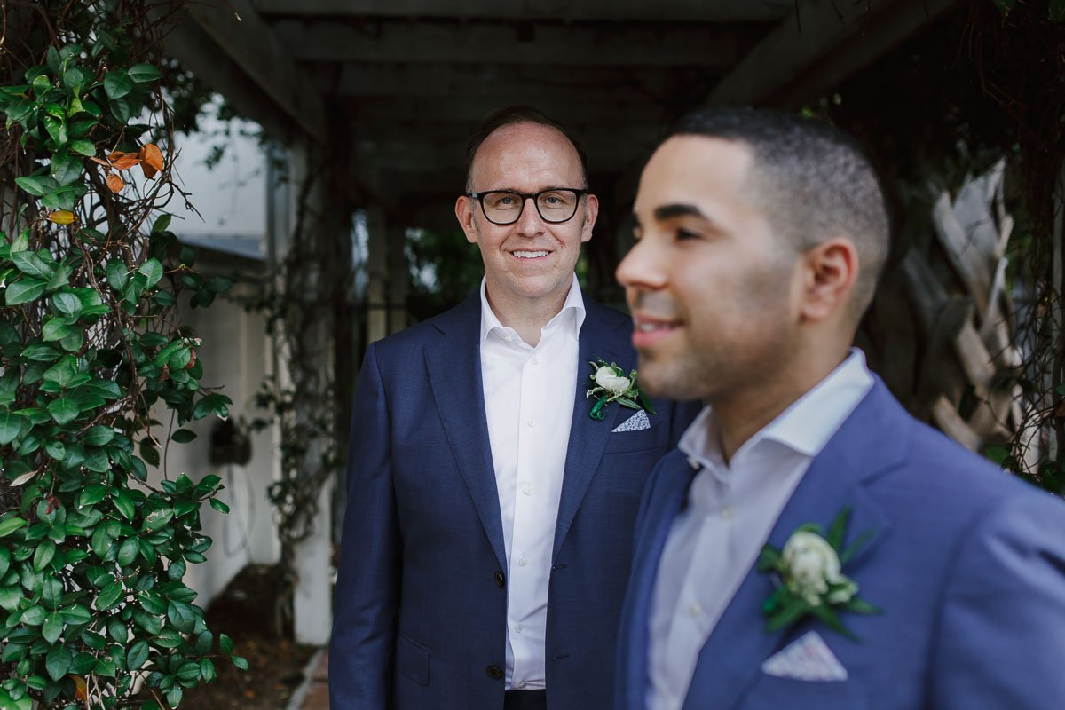 wedding photographer in key west florida captures two grooms