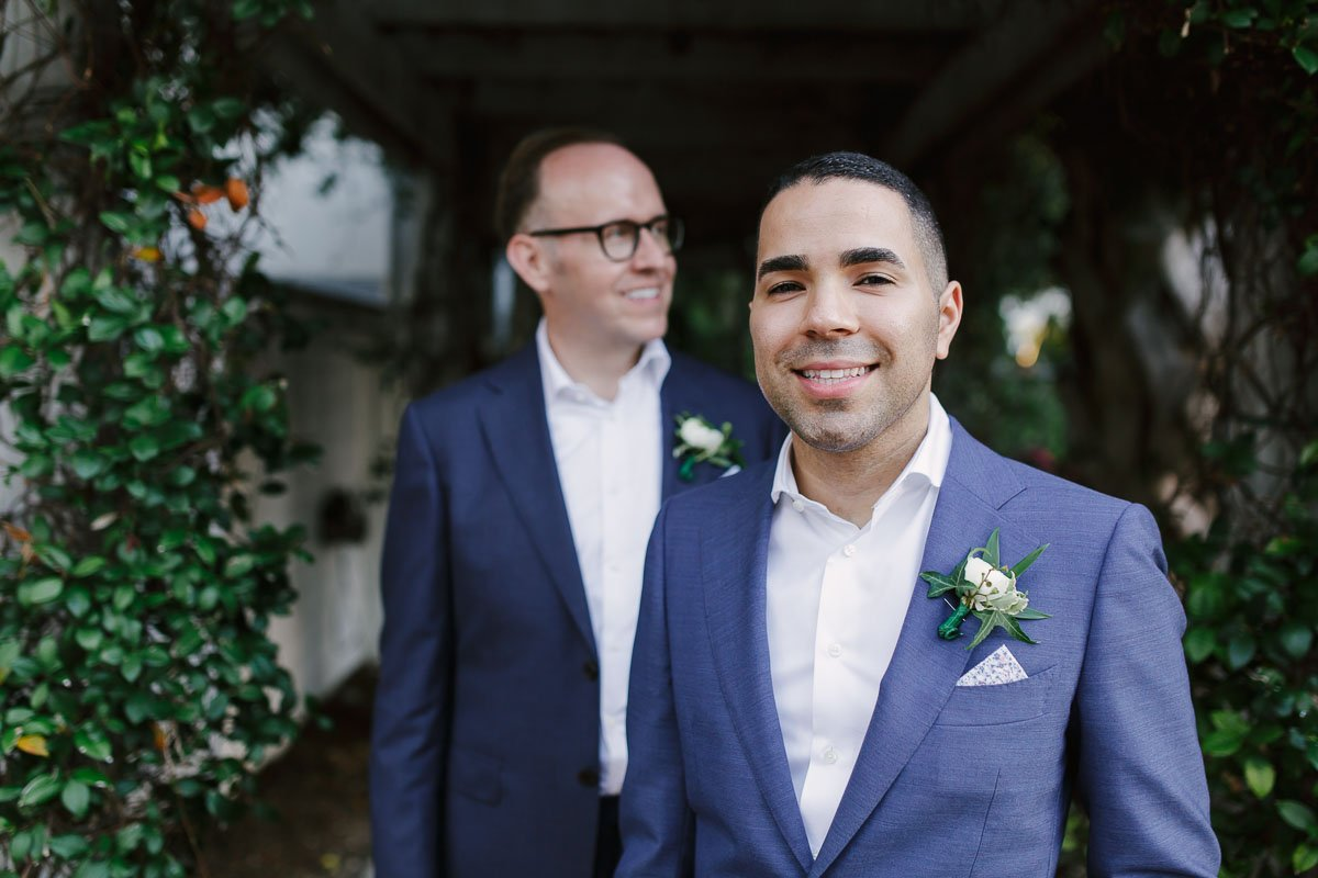 wedding portrait of two grooms