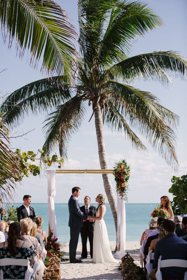 wedding ceremony at fort zachary beach