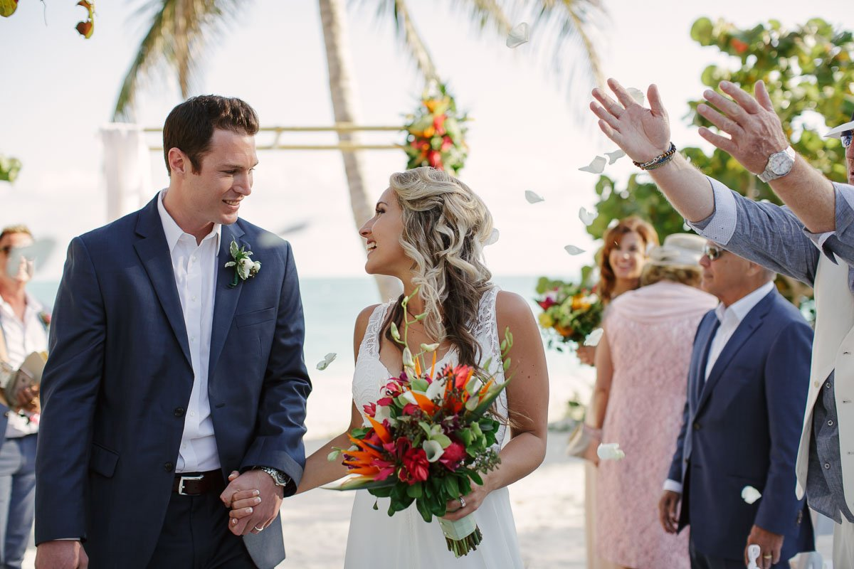 fort zachary wedding ceremony recessional