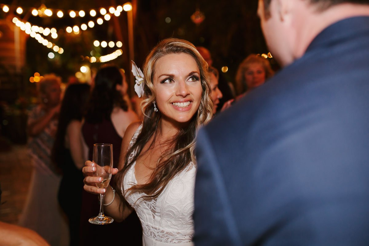 happy bride at key west wedding