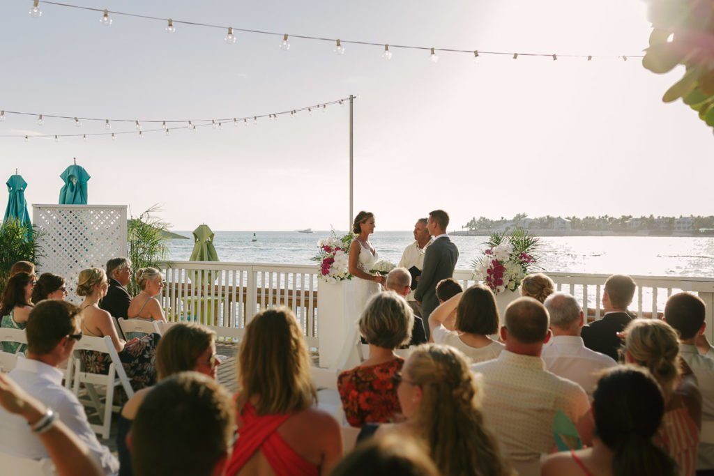 ocean wedding ceremony in key west florida