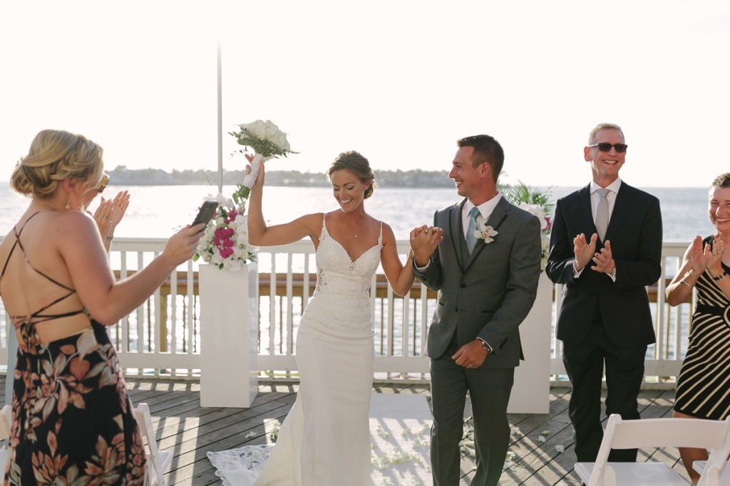 wedding ceremony setup at ocean key resort