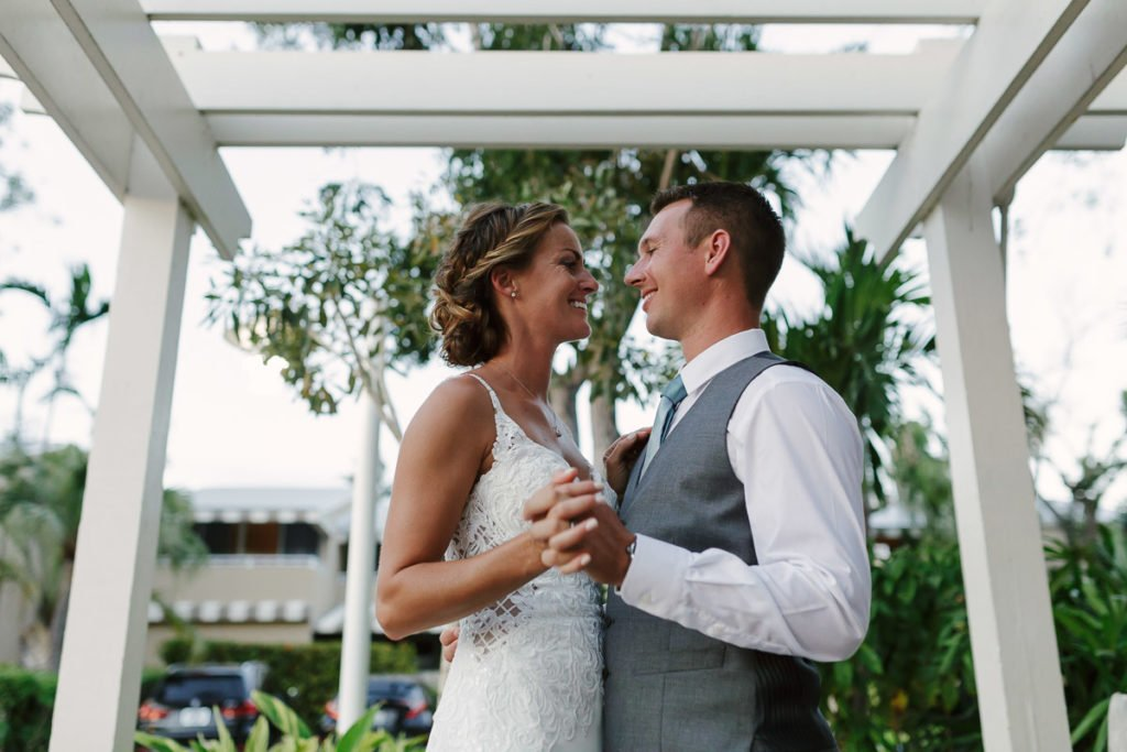 key west wedding photograph couple smiling