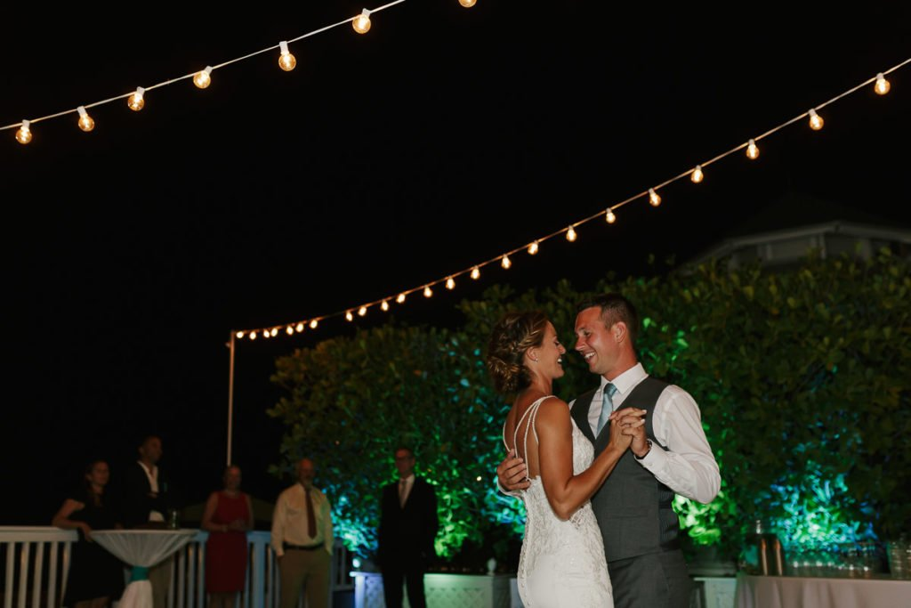 husband and wife dance in key west