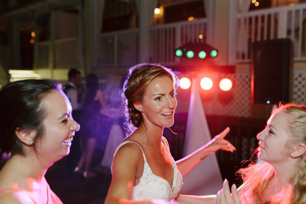 wedding reception at ocean key resort in key west