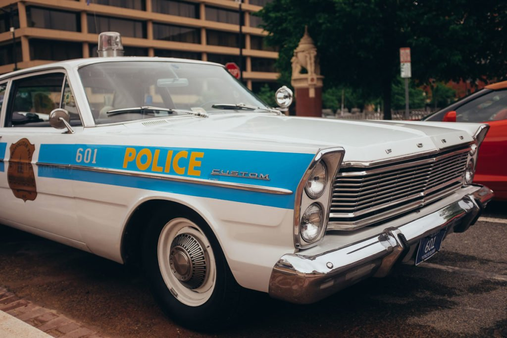 vintage police car in dc